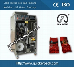 Tea Bag Vacuum Packaging Machine with Outer Envelop