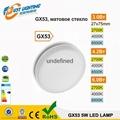 GX53 LED spotlights aluminum 6W GX53 LED downlight lamp Ra80 8W LED Lamp GX53