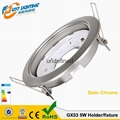 led GX53 Holder round shape with the silver plating fixture higher quality gx53  1