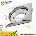led GX53 Holder round shape with the silver plating fixture higher quality gx53  2