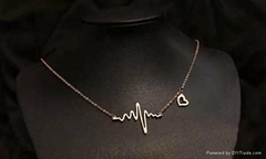 Han edition ecg necklace fashion jewelry