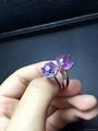天然紫晶 女戒指 日韩 2