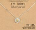 雏菊花项链女S925纯银 2