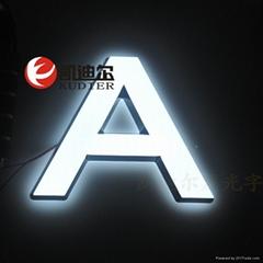 2015 hot selling fashion design 3d acrylic alphabet mini luminous letter