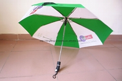 Good quality automatic 3 folding umbrella with logo for advertising