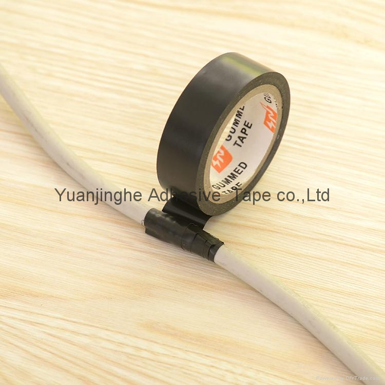 Yuanjinghe Black PVC Electrical Tape Colored Insulation Tape