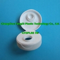 38mm white ribbed pour spout snap top Caps