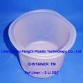 2L paint canister shell pot liner