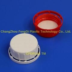 40mm long skirt tamper evident cap with wadded seal for reagent bottles