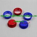 54mm Tamper-evident colored screw cap with foil induction disk seal liner