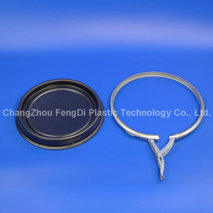 open top lids and lever locking ring