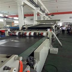 Single screw kneader sheet extrusion line