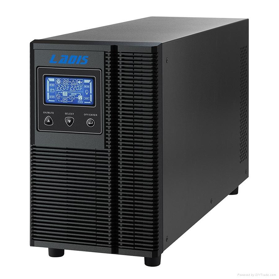 雷迪司3KVA 在線式UPS電源備用1小時 G3KL 2400W可用液晶顯示智能 1