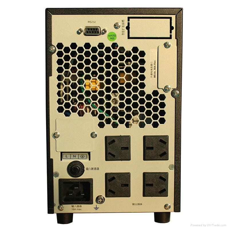 雷迪司3KVA 在線式UPS電源備用1小時 G3KL 2400W可用液晶顯示智能 2