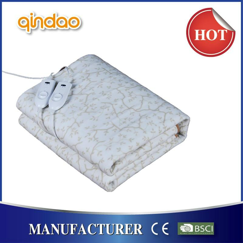 Soft Coral Polar Fleece Electric Heating Underblanket with CE GS certificate 2