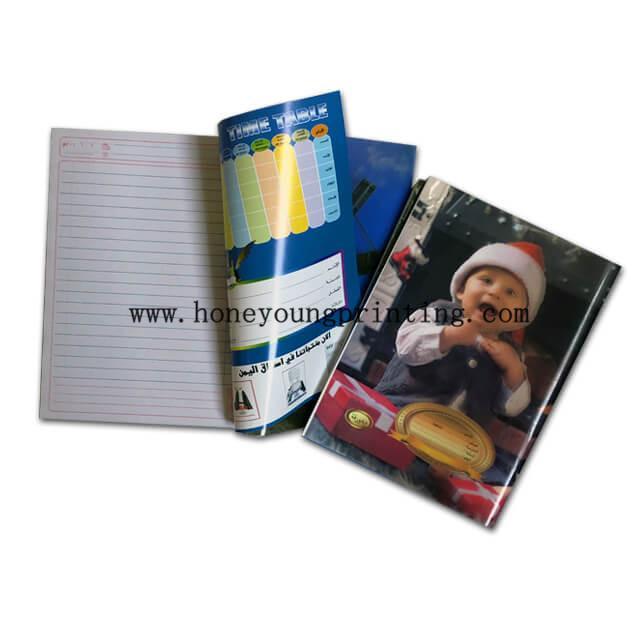 PP cover staple binding Arabic ruled exercise book diary 1