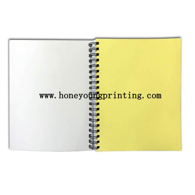 Double spiral notebook 6 subject with insert color paper single line assorted de 3