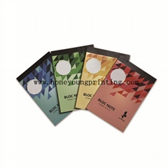 A4 A5 bloc notes staple and glue binding 5*5 square petits carreaux easy tear fo