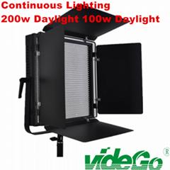videGo LED Video Panel Light/Daylight video light/bi-color light/Tungsten/50w bi