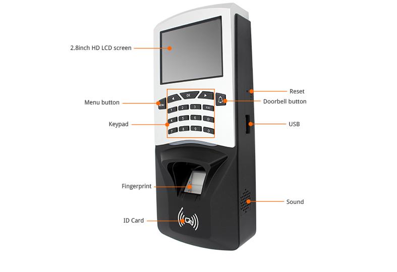 Fingerprint Time Attendance Machine Support Card Reader 3