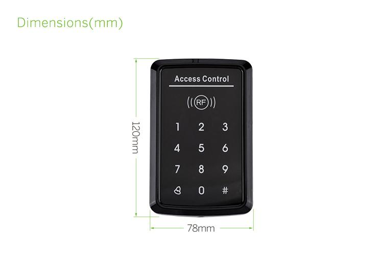 125Khz/13.56mhz Touch Keypad Standalone Security Access Control Systems 4