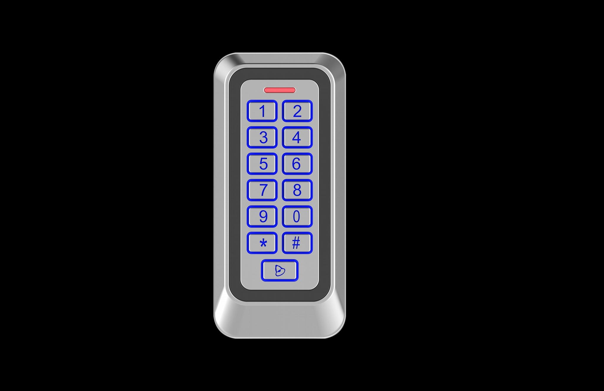 Waterproof Metal RFID Door Access Control Keypads  1