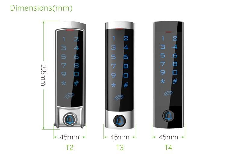 Slim Type Metal Touch Keypad RFID Access Control For Office  5