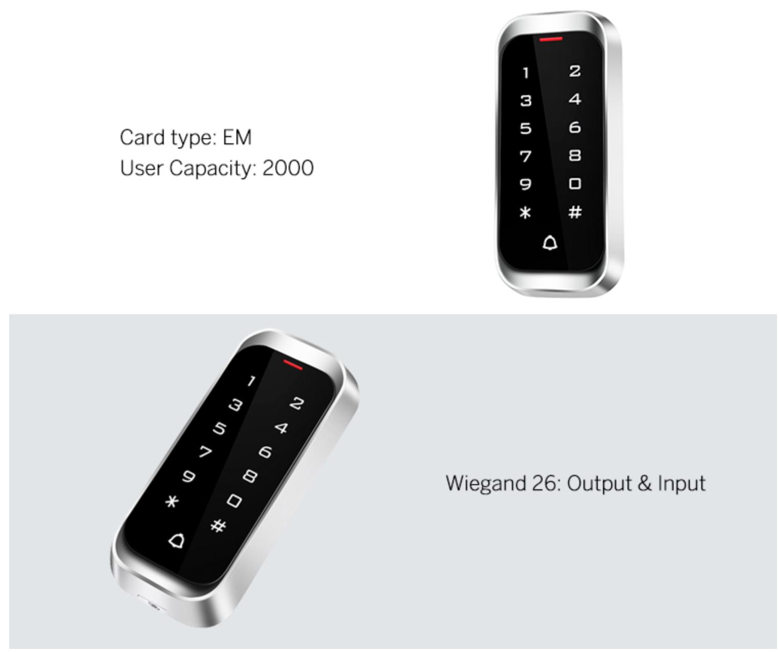 125khz/13.56mhz IP68 Metal Access Control for Elevator/Doors  4
