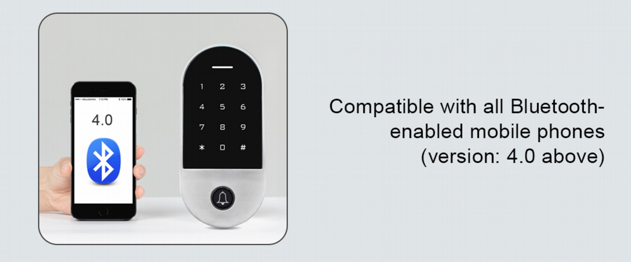 Waterproof Bluetooth Access Control With Touch Keypad And RFID Card Reader  4