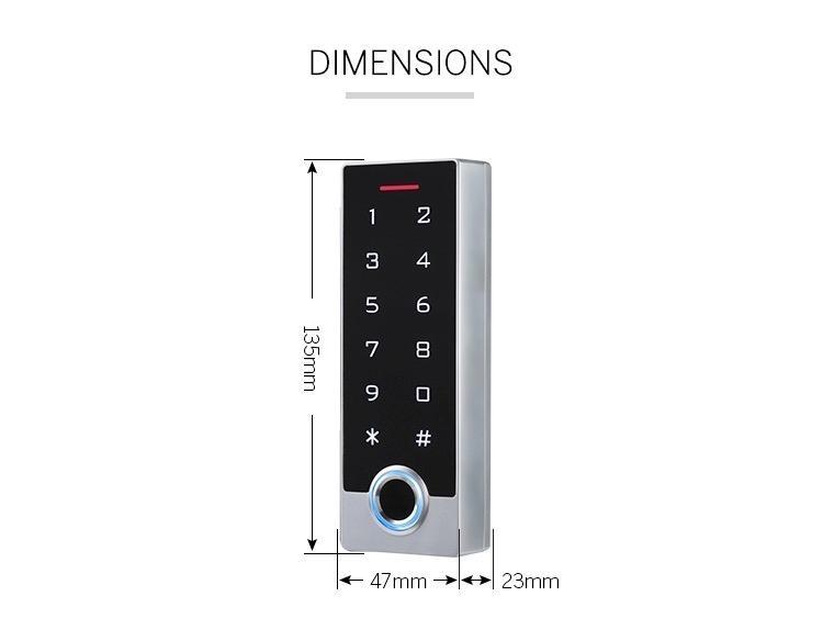 Waterproof IP68 Fingerprint Access Control For Outdoor Use 5