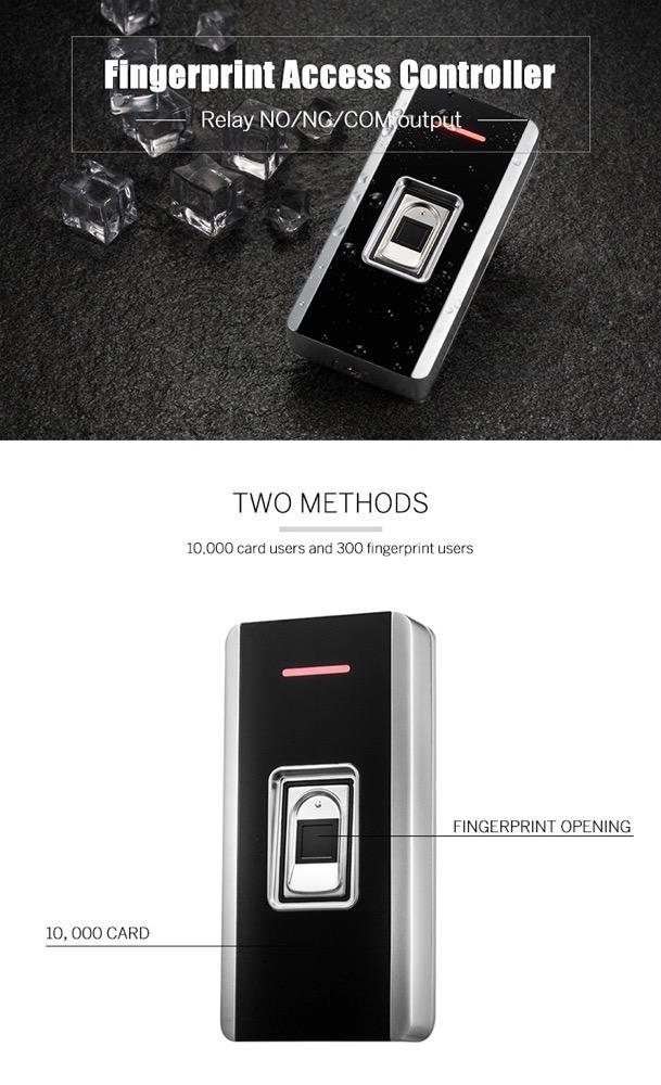 EM/Mifare Waterproof Metal Fingerprint Access Control Support RFID Card Reader 3