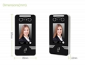 Dynamic Face Recognition Metal Time Attendance Access Control  6