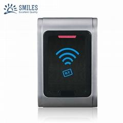 IP68 Waterproof Metal Contactless Wall Mount Wiegand RFID reader For Door Access