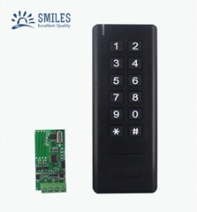 Wiegand 26-34 Bits 433MHz Wireless Keypad Reader With Receiver