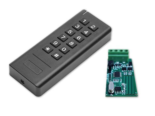 Wiegand 26-34 Bits 433MHz Wireless Keypad Reader With Receiver  2