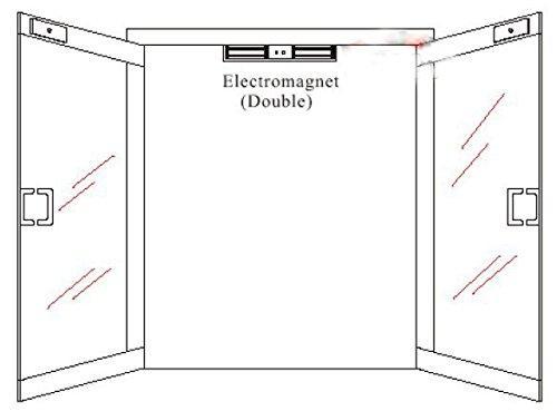 12V/24V 1200LBS Double Door Electric Magnetic Lock For Door Access Control  4