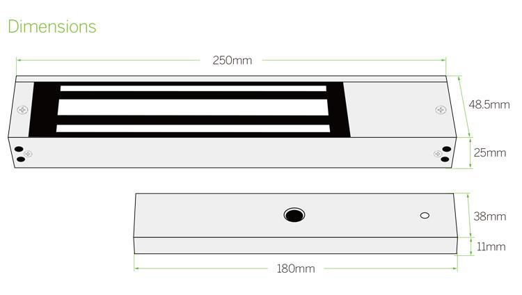 600lbs 12V&24V EM Door Lock With LED,Lock Sensor,Time Delay 5