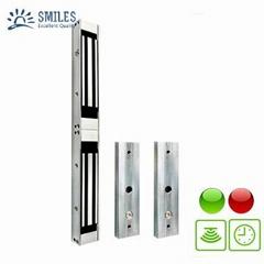 12V/24V Double Door Electromagnetic Lock With Time Delay,LED,Lock Sensor