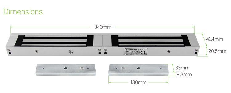 700LBS Electromagnetic Lock For Double Door 3