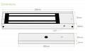 1200LBS/500KG  Electric Magnetic lock For Single Door 4