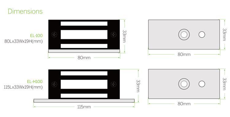 100lbs/60KG Hanging MINI Electromagnetic Lock 4