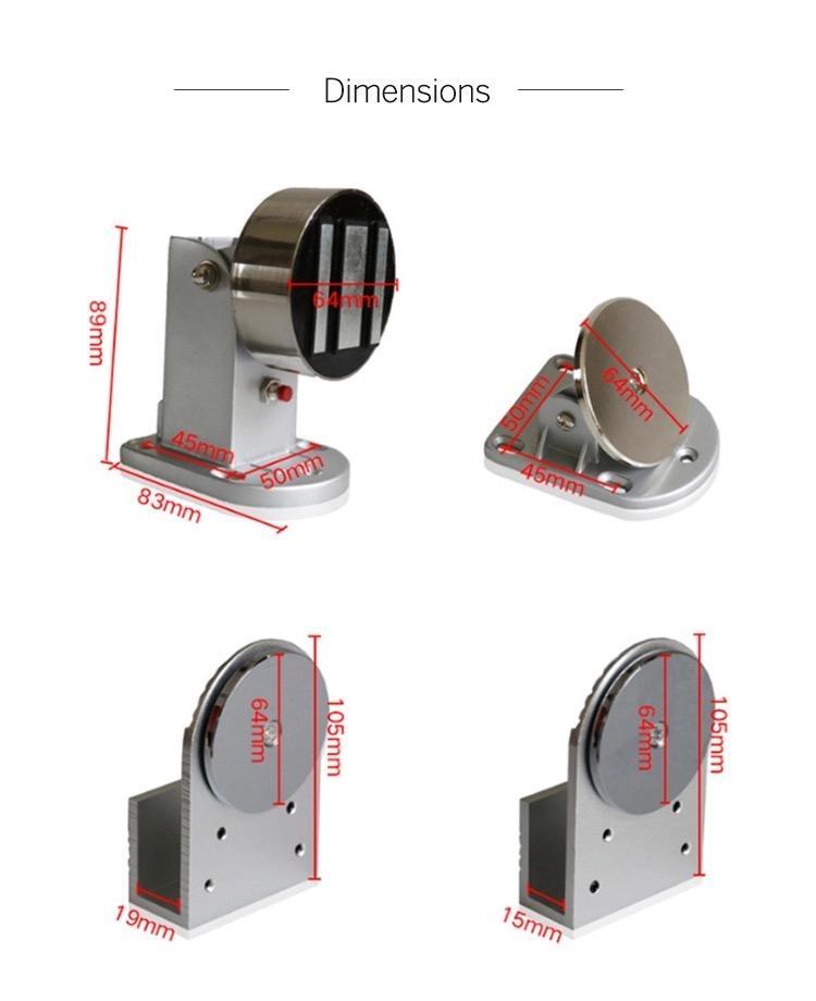 12V/24V Magnetic Door Holder With Emergency Button  7