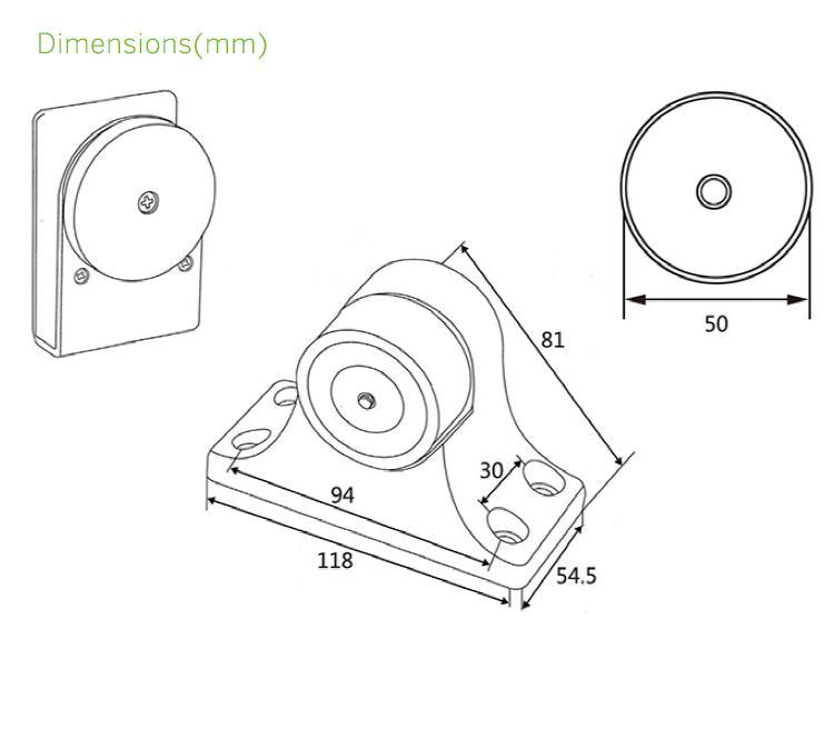 12V/24V 70KG Electromagnetic Door Holder For Automatic Door  5