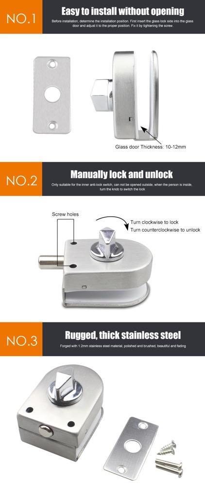 Floor Latch Manual Lock For Glass Gate Door  6