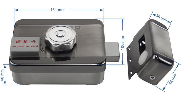 Intelligent Electronic Rim Door Locks With Remote Control, RFID Card 3