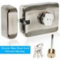 Electric Mute Door Rim Lock Outward/ Inward Opening For Intercom Security 3