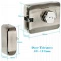 Electric Mute Door Rim Lock Outward/ Inward Opening For Intercom Security 4