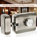 Electric Mute Door Rim Lock Outward/ Inward Opening For Intercom Security 5
