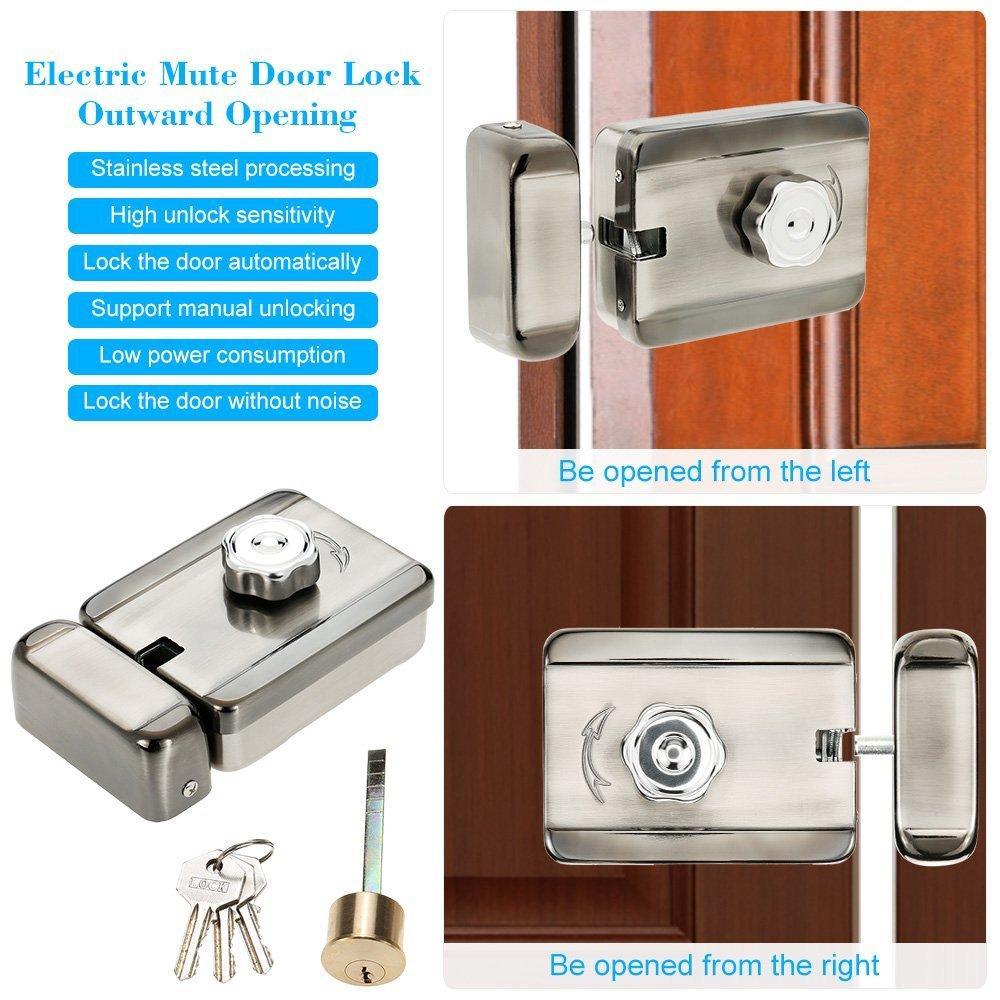 Electric Mute Door Rim Lock Outward/ Inward Opening For Intercom Security 6