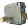 Anti-Theft Exterior Door Locks/CISA Lock With Nickle Right Open 4